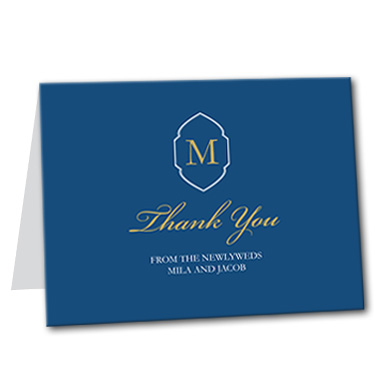 Yacht Club Thank You Card