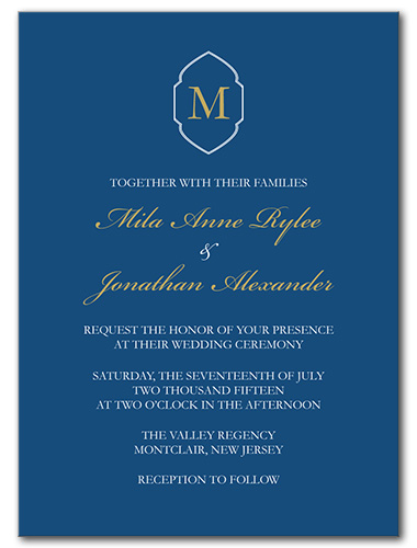 Yacht Club Wedding Invitation