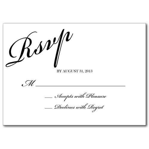 You're Invited Response Card