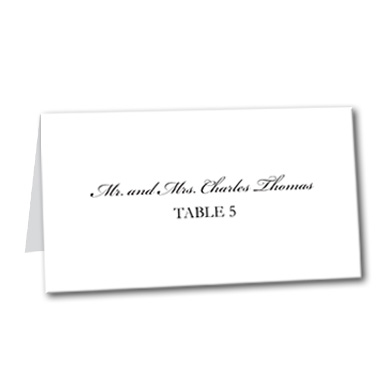 You're Invited Table Card