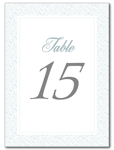 Gracious Glamour Table Number