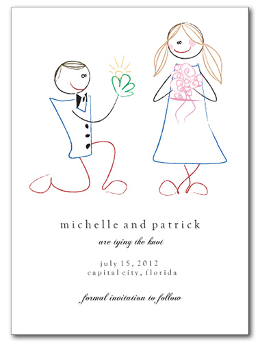 Love Sketch Save the Date Card